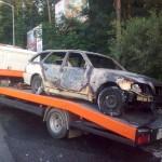 Transportowanie samochodu osobowego po wypadku